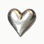 Large Heart White Gold